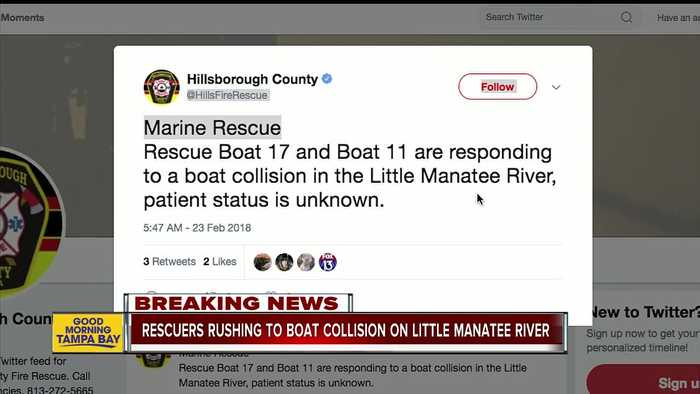 News video: Crews work to rescue boaters after collision on Little Manatee River