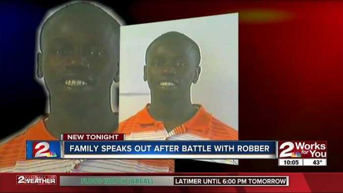 News video: Tulsa family talks about shooting, injury armed robber at family store Thursday night