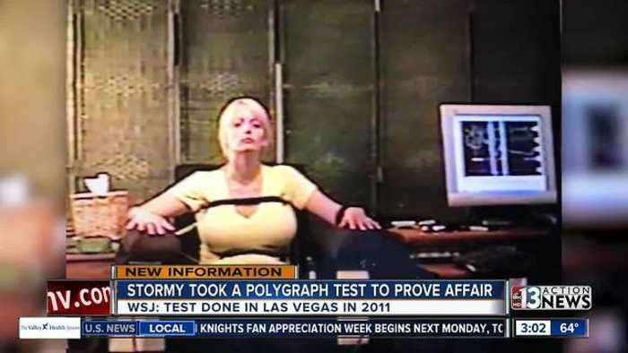 News video: Photo of Stormy Daniels polygraph test