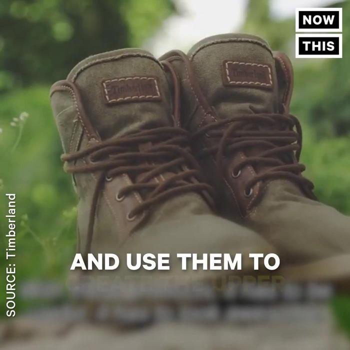 50a2598007 These Timberland Boots Are Made From Recycled - One News Page VIDEO