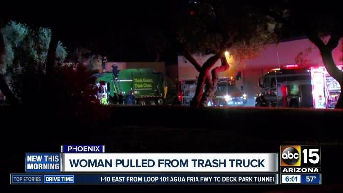 Woman Pulled From Trash Truck In Phoenix One News Page Video