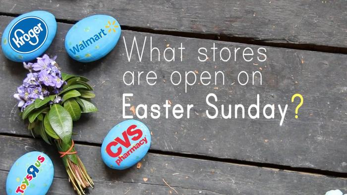 what stores are open on easter sunday 2018 in one news
