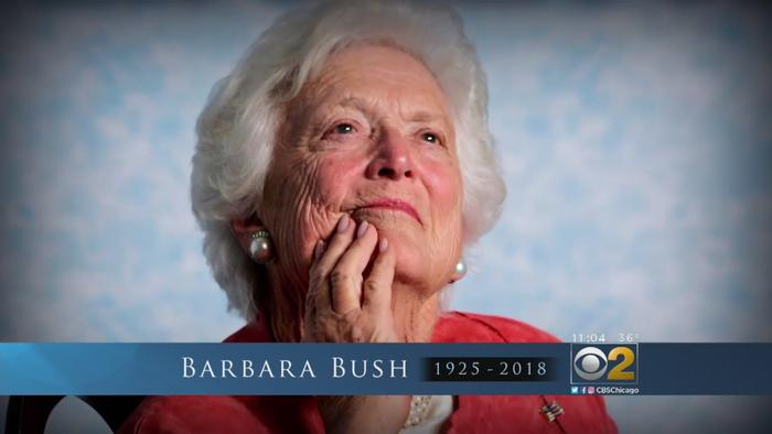 Former First Lady Barbara Bush Dies At 92 - One News Page VIDEO