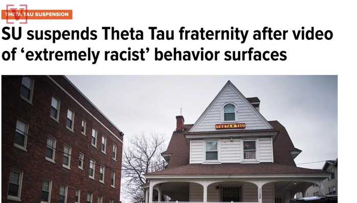 News video: Syracuse University Fraternity Suspended After Racist Video Emerges On Secret Facebook Page