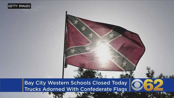 News video: Michigan School Closed After Confederate Truck Gatherings