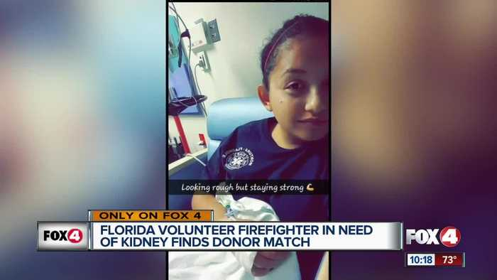 News video: Volunteer firefighter in need of kidney finds donor match