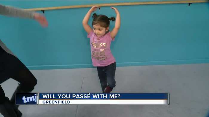 News video: 'Will you Passe with me?': Adorable girl asks Greenfield first responders to dance