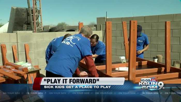 News video: Tucson children battling cancer to receive custom playgrounds