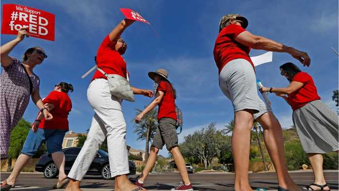 News video: Arizona Teachers Could Be Risking This In Exercising Their Right To Protest