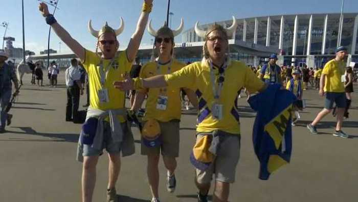 News video: Happy fans as Sweden buries World Cup opening jinx to beat South Korea