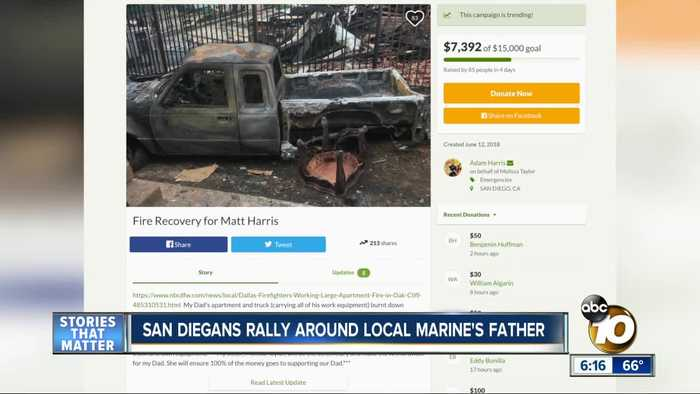 News video: San Diegans rally around local Marine's father