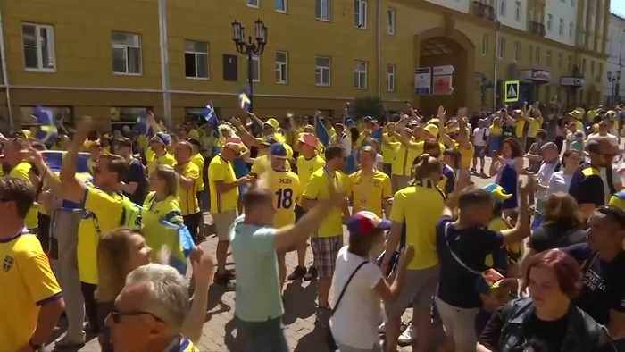News video: Swedish fans make themselves heard ahead of South Korea match