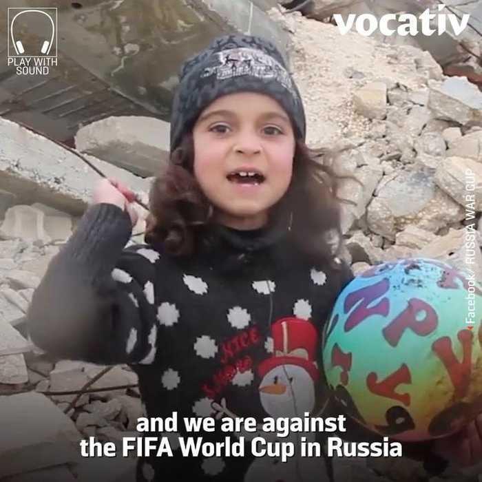 News video: Syrian Children and Sympathizers are Calling to Boycott the World Cup in Russia