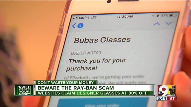 4f019a605d2 Beware the Ray-Ban scam - One News Page VIDEO