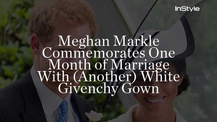 Meghan Markle Commemorates One Month of Marriage With (Another) White Givenchy Gown