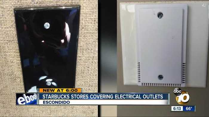 Starbucks covers electrical outlets in Escondido