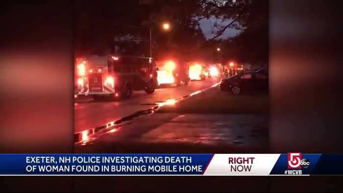 Police investigating death of woman found dead in mobile home fire