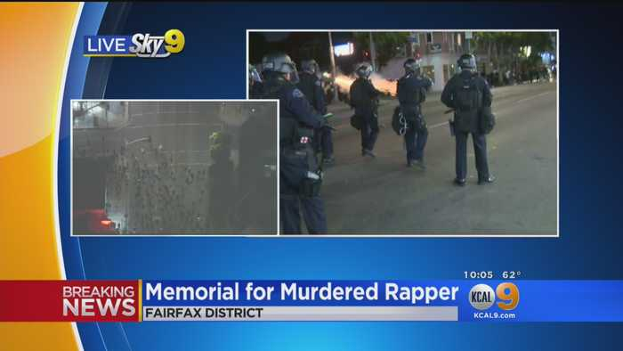 LAPD Fire Nonlethal Rounds To Disperse Crowds Gathered For Rapper XXXTentacion Memorial