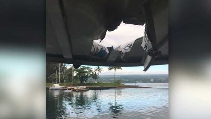 Hawaii's Kilauea Volcano Drops 'Lava Bomb' on Tour Boat