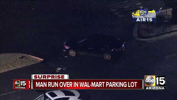 Man hospitalized after struck and trapped under car at Surprise Walmart