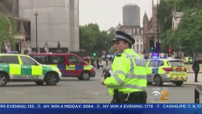Car Slams Into Barriers At UK Houses Of Parliament