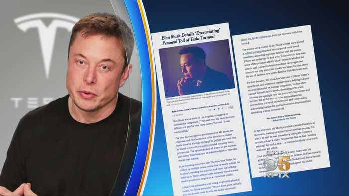 Elon Musk: 'Most Painful Year Of My Career'