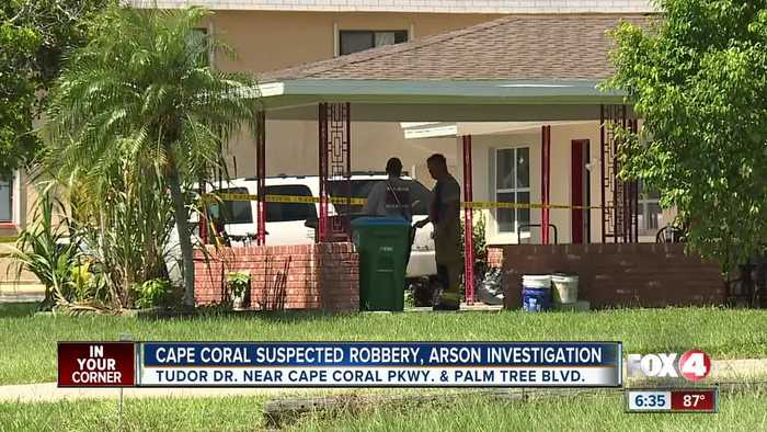 Cape Coral Police investigating robbery and arson incident