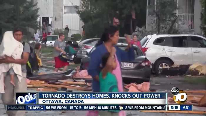 Tornado destroys homes, knocks out power in Ottawa, Canada