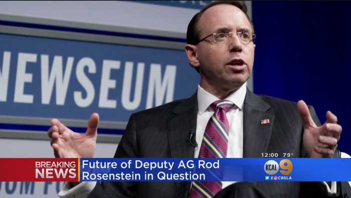 Rod Rosenstein To Meet With Trump At White House On Thursday