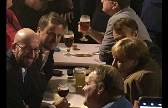 EU Leaders Bond Over Beer After a Hard Day of Brexit Talks
