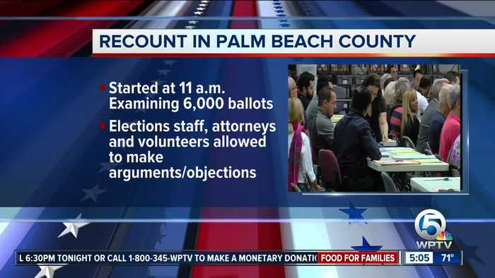 Palm Beach County begins hand recount in Senate race