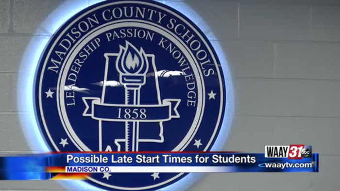 Possible Late Start Times for Students