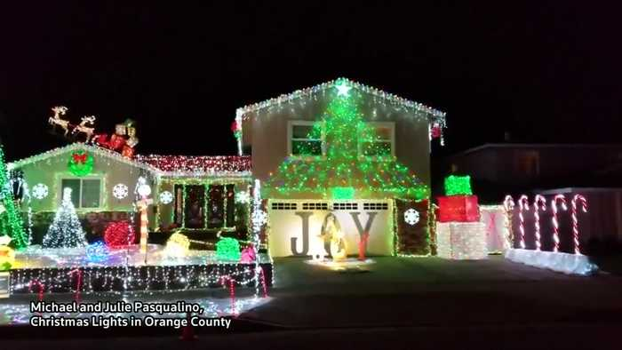 Family creates dazzling Christmas Light display in US