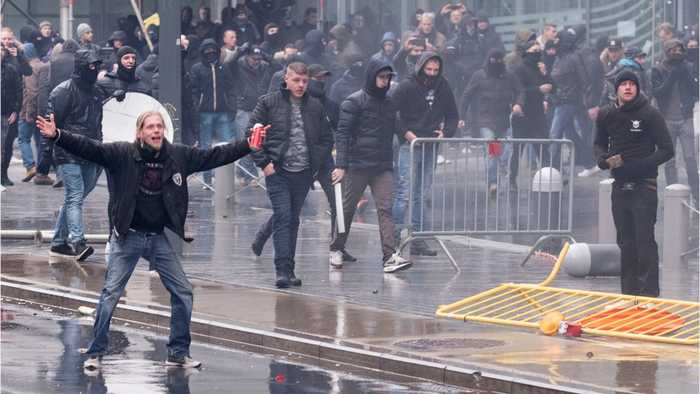Brussels: Far-Right Activists Pelted With Water Cannons