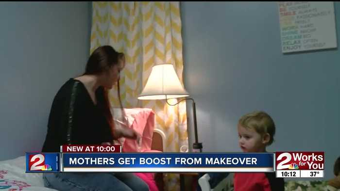 Mothers at Women and Children center get a holiday boost from room makeovers