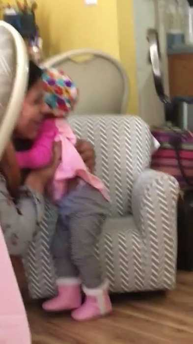 Baby Screams when Reuinted with Aunt