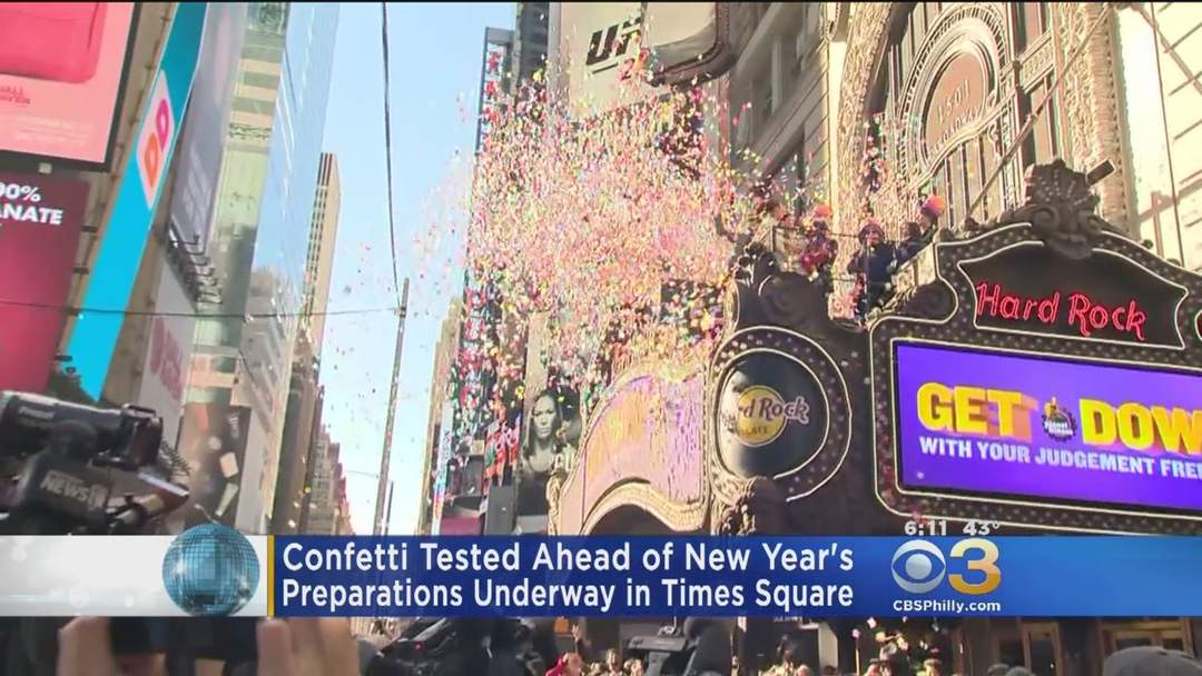 confetti tested ahead of new years in times one news page video