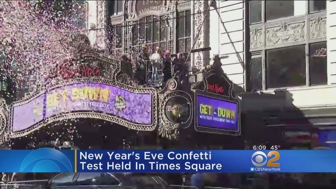 new years eve confetti test held in times one news page video