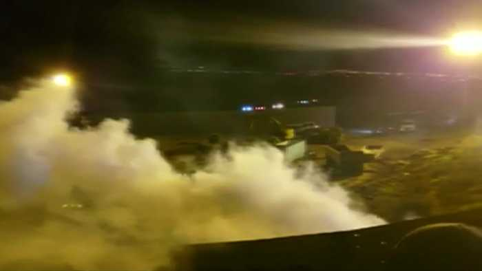 Migrants met with tear gas on U.S.-Mexico border