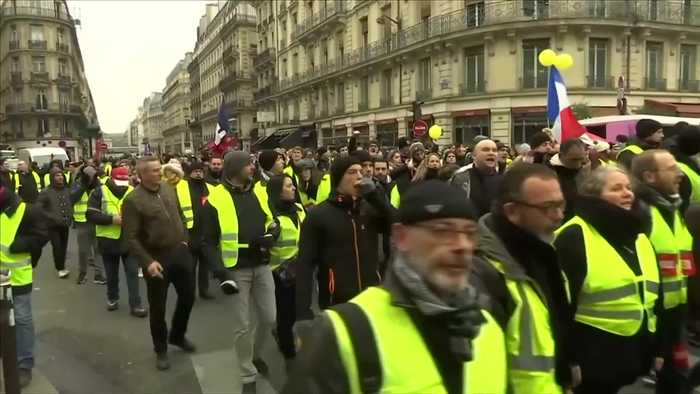 France's 'yellow vest' demonstrators gather for first protest of 2019