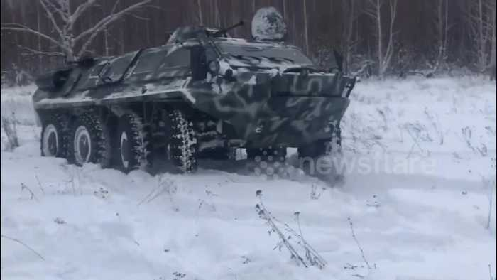 Russian civilian takes mysteriously-acquired tank for holiday drive in park