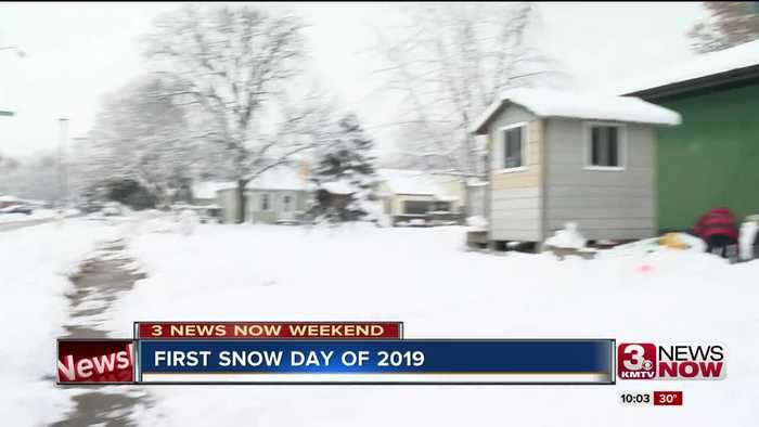 First day of accumulated snow fall in 2019