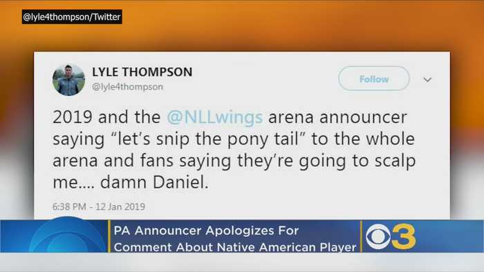 Philadelphia Wings Announcer Apologizes For 'Let's Snip The Pony Tail' Remark Directed Toward Native American Player