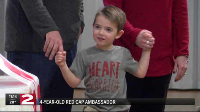 Four-year-old red cap survivor ambassador