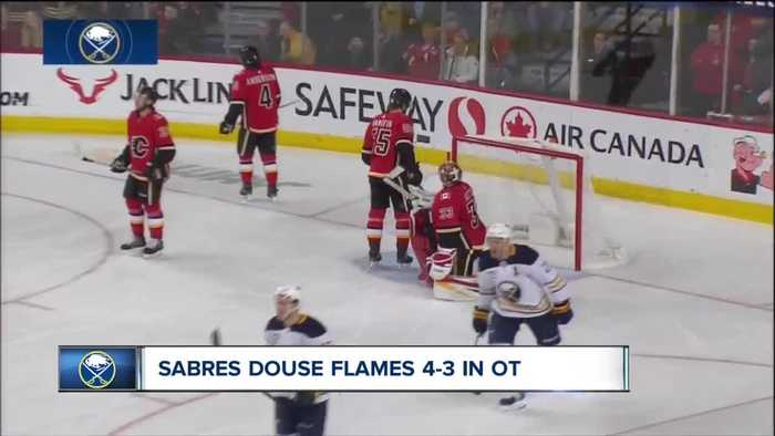 Sabres douse the Flames, win in OT