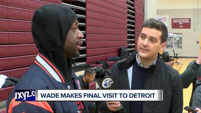 Dwyane Wade makes final NBA visit to Detroit