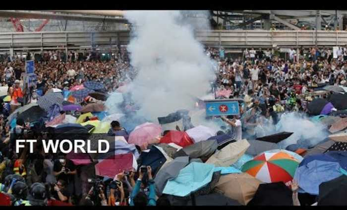 Hong Kong Protest 1: Police fire tear gas at crowd