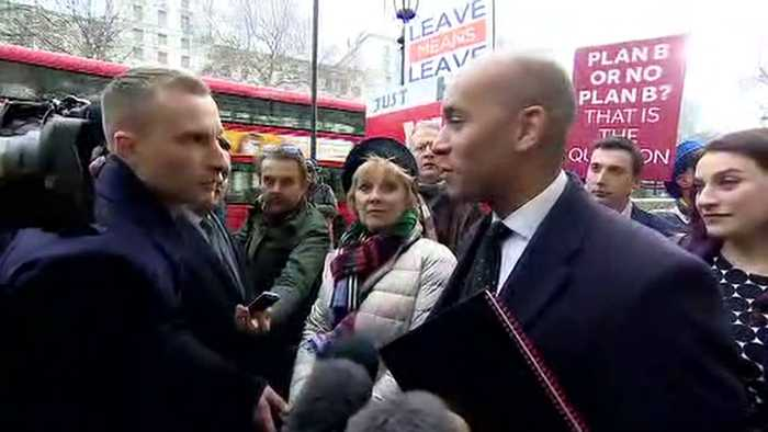 Soubry and Umunna arrive at Cabinet Office for Brexit talks