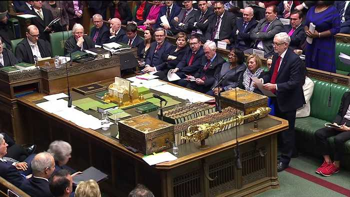 PMQs: May and Corbyn clash over Brexit meetings