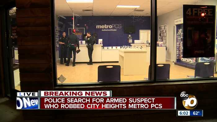 Police searching for armed suspect who robbed City Heights cellphone store